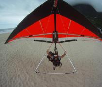 Hang Glider landing on São Conrado Beach, Rio de Janeiro