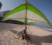 Hang Gliding in low groung effect on São Conrado Beach, Rio de Janeiro