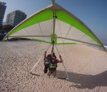 Hang Glider Landing on São Conrado Beach, Rio de Janeiro,